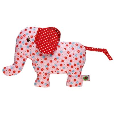 Baby Charms Pink Elephant Rattle