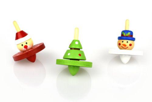 Christmas Spinning Top - Single