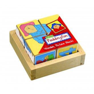 Paddington Bear Wooden Picture Blocks Puzzle