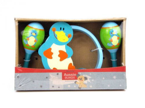 Aussie Animal - Koala, Crocodile or Platypus -Maracas & Tambourine Set