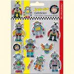 Metallic Foam Stickers Robots Joe-Mo