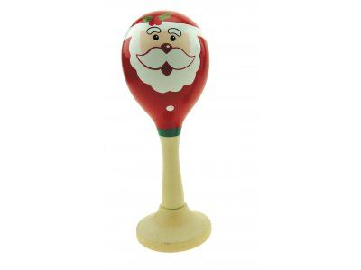 Santa- Father Christmas Maraca - Baby Toy