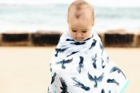 Tully and Koh Black Cockatoo Swaddle