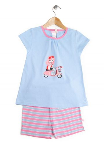Scooter Girl Summer Pjs (Sizes 2-5) by Uh-Oh!