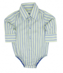 Rugged Butts Yuri Striped Button-Up Bodysuit