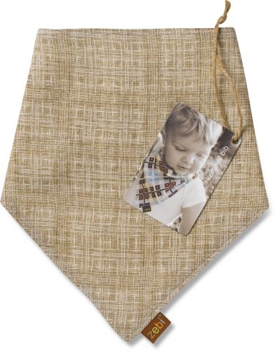 Zebi Baby Cross Hatch Kerchief Bib