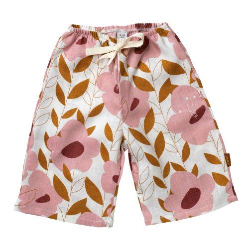 Zebi Baby Pink Floral Linen Lounge Pants