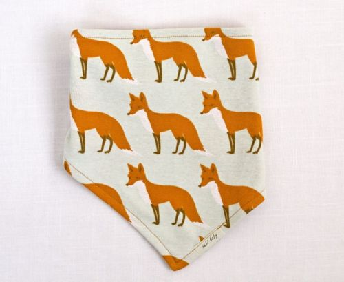 Zebi Baby Kerchief Bib - Orange Fox