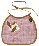 Zebi Baby Pink Tulip Linen Organic Bib