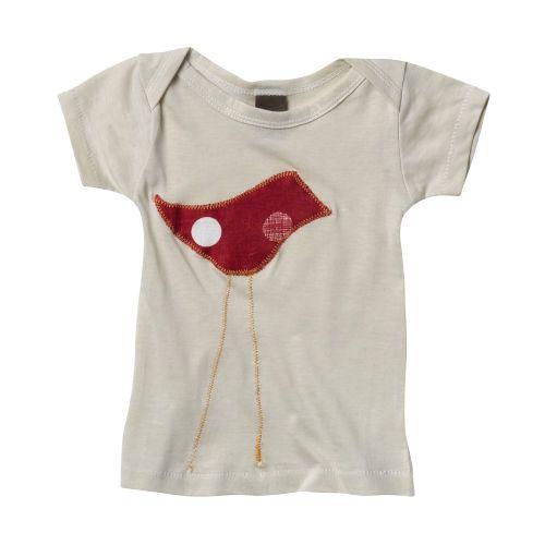Zebi Baby Red Bird Organic Cotton Baby Tee