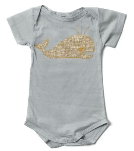 Zebi Baby Whale Organic Onsie/Bodysuit (only 6mths left)