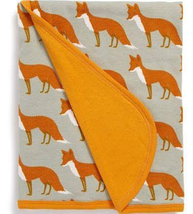 Zebi Baby Fox Organic Stroller Blanket
