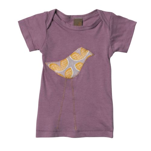 Zebi Baby Purple Bird Organic Cotton Tee
