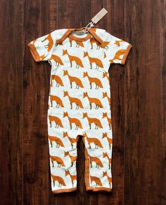 Zebi Baby Organic Romper - Orange Fox (12-18 months)