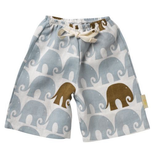 Zebi Baby Elephant Linen Lounge Pants