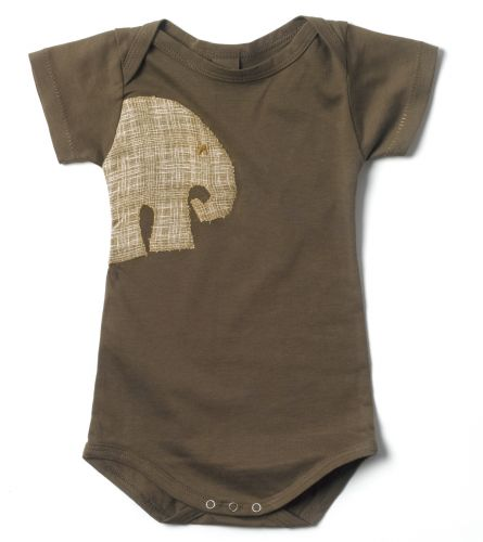 Zebi Baby Mocha Elephant Onsie (only 6 mths left)