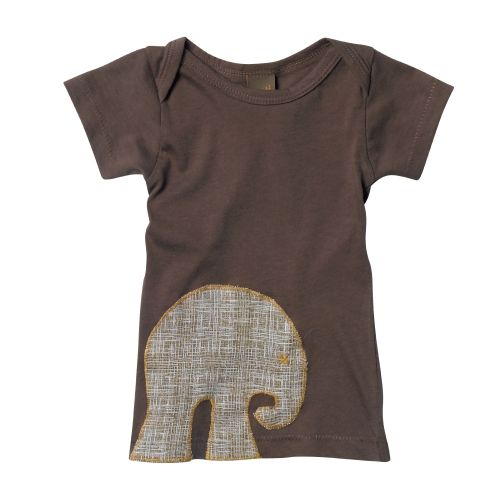 Zebi Baby Mocha Elephant Organic Cotton S/Sleeve Tee (only 6 mths left)