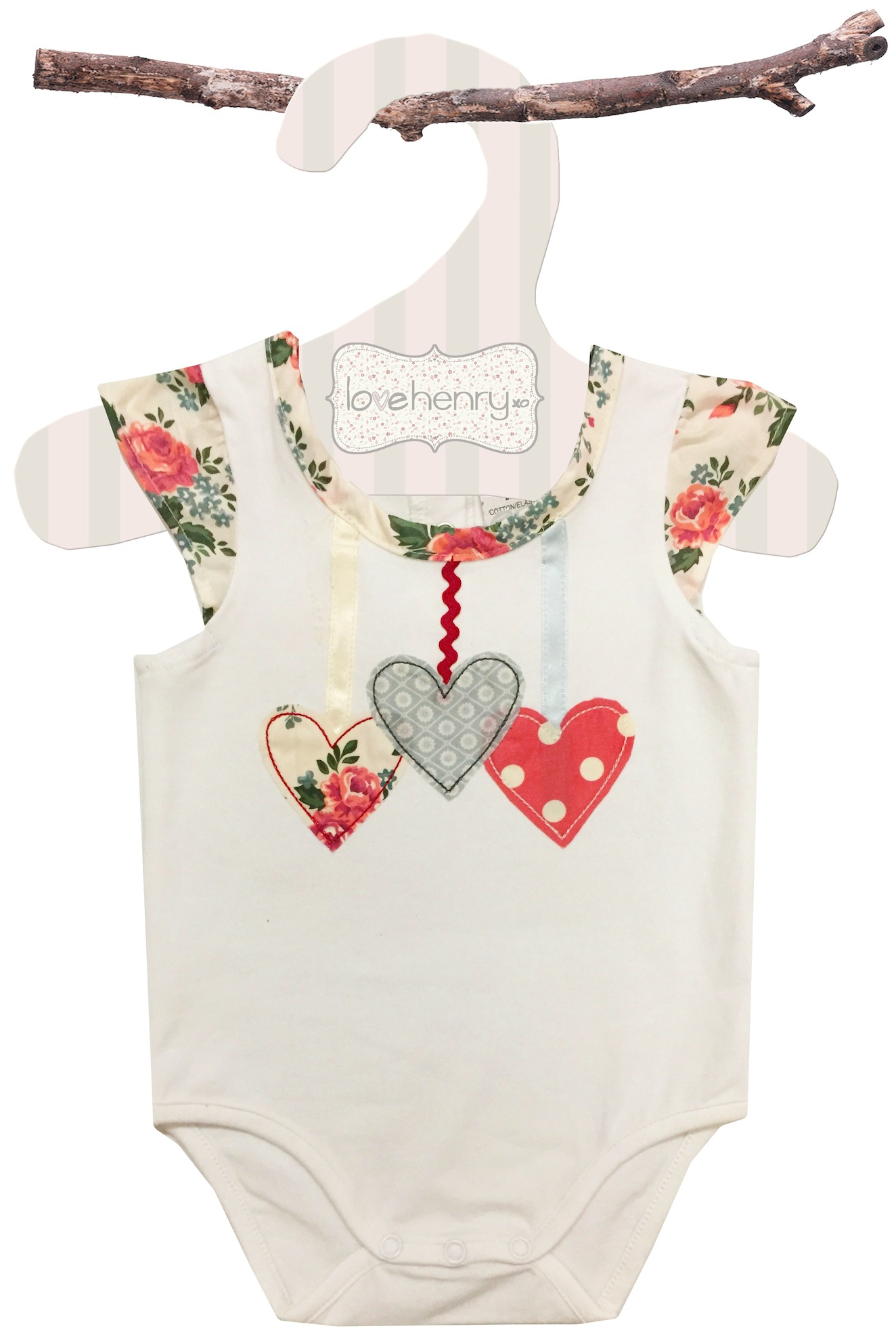 Baby Girls Clothes Online | Love Henry Rose Heart Romper | Not Another Baby Shop