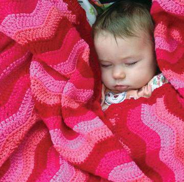 Hand Croched Baby Blanket | Berry Ripple OB Designs | Not Another Baby Shop