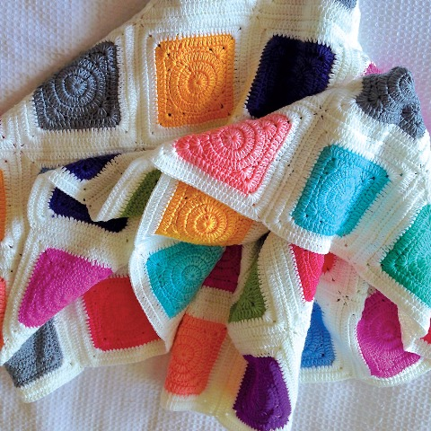 Gorgeous Baby Blanket | OB Designs online| Patchwork rainbow blanket |Not Another Baby Shop