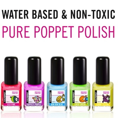 pure poppett kid friendly water based non toxic nail polish