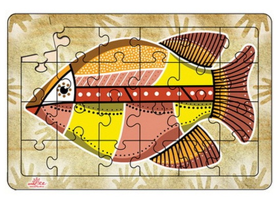 Barramundi Puzzle - Australian Aboriginal Art - Great Toddler Gift Idea