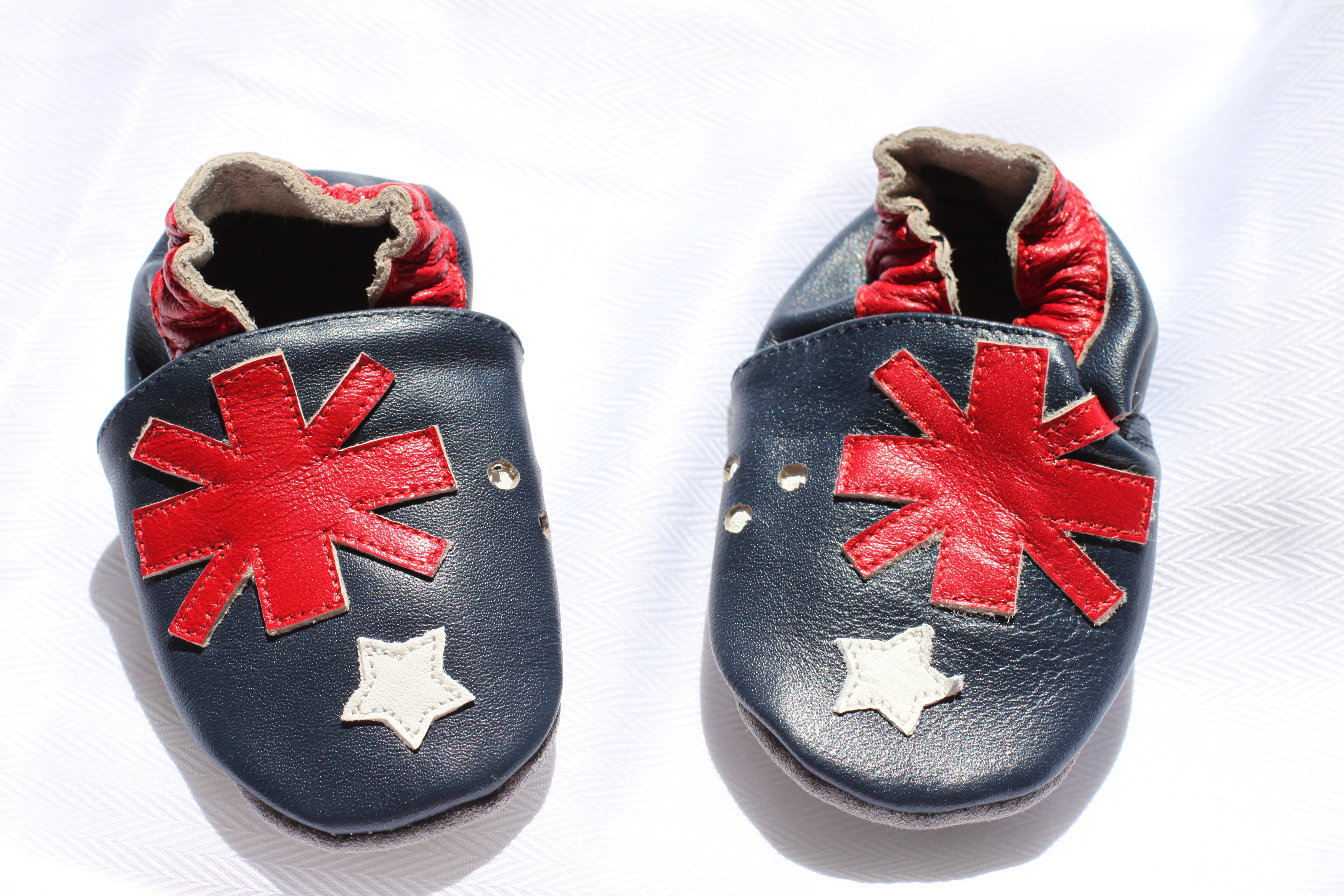 Australian Flag Soft Sole Leather Baby Shoes Australia Day