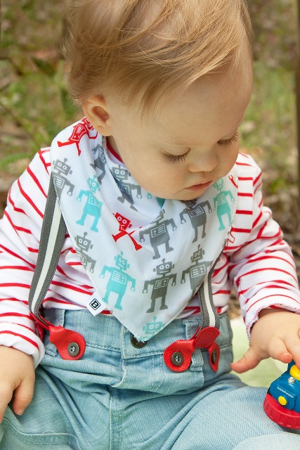 Robot Bibska Bibs - Bandana Bib - Dribble Bib - Baby Bibs - Not Another Baby Shop