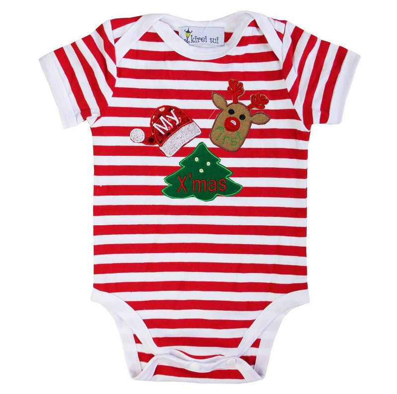 21294c0a1 My First Xmas Baby Bodysuit | Baby Christmas Outfit | Not Another ...
